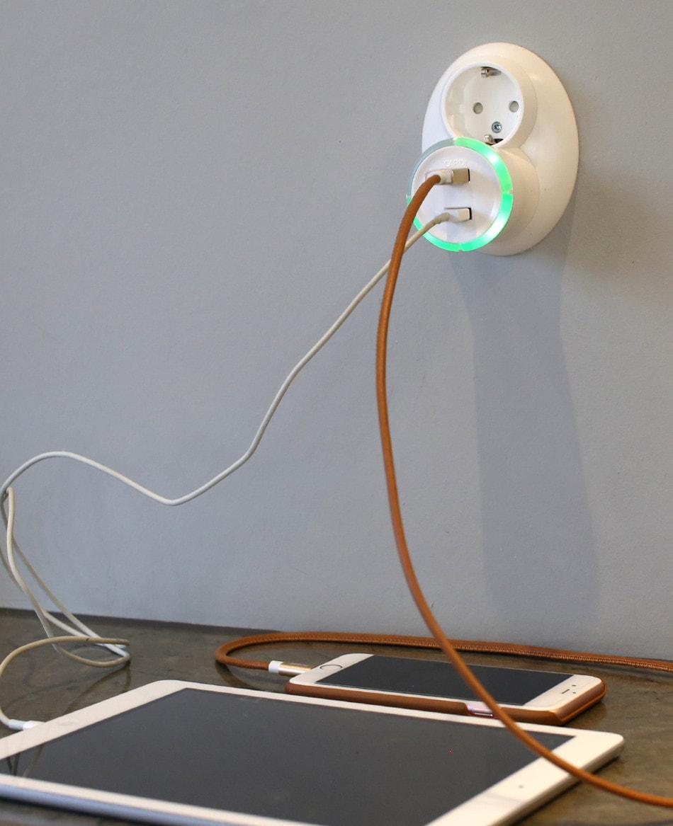 USB timer White
